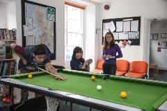 CES Oxford - common room - pool shot