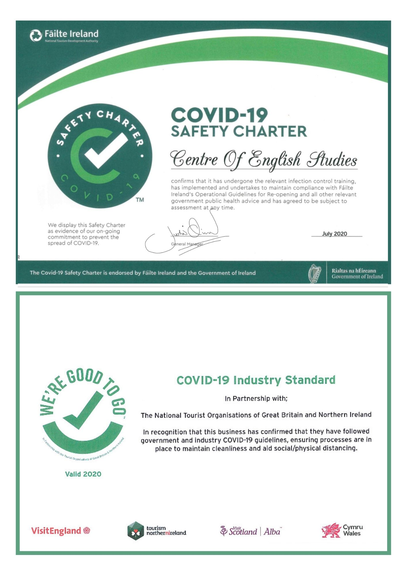 CES Covid Ready Certificates